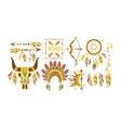 American Indian Ethnic Elements Boho Style Design vector image