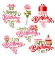 Birthday design elements set vector image