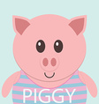 Cute piggy cartoon flat icon avatar vector image