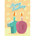 Happy birthday card with 10th birthday vector image