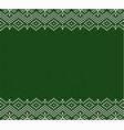 knitted holiday geometric green ornament design vector image