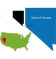 Nevada map vector image