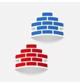 realistic design element brickwork vector image