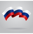 Russian waving Flag vector image