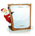 santa claus pointing christmas background vector image
