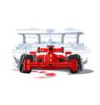 sport car in race vector image
