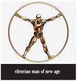 vitruvian man of new age vector image