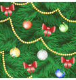 christmas tree seamless background vector image vector image