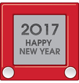 2017 Creative Happy New Year graphic vector image