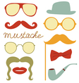 Funny mustache party vector image
