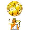 Emperor coin vector image