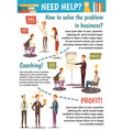 business trainings and coaching flowchart vector image