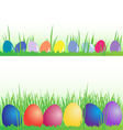 Easter eggs banner set vector image vector image