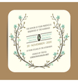 wedding card with floral branch vector image vector image