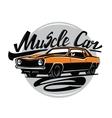 orange muscle car vector image