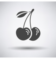 Cherry icon on gray background vector image