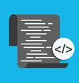 Code optimization Flat computing background vector image