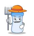 farmer baby bottle character cartoon vector image