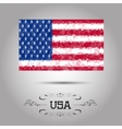 geometric polygonal USA flag vector image