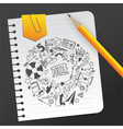 Paper sheet with sketch on grey background vector image