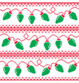christmas tree lights seamless pattern vector image