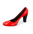 red high heel woman shoe vector image