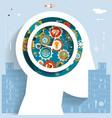 time management businessman head idea generation vector image