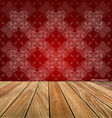 Room with wooden floors and vintage wallpaper vector image