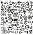 ecology - doodles set vector image
