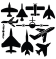 airplane set vector image