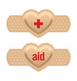first aid with love vector image