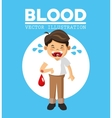 Blood donation design medical and healthcare vector image