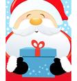 Big Santa With Gift vector image