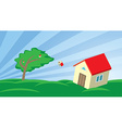Growing house in the wind vector image