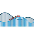 isolated roller coaster vector image