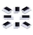 Isometric generic white smartphone vector image
