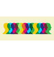 multicolored social interaction vector image