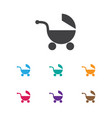 of kid symbol on baby pram vector image