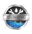 Plumbing and running water vector image