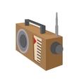 Radio receiver icon cartoon style on white vector image