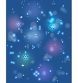 Snowflakes and festive lights on a blue base vector image