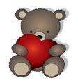 Teddy bear with the big heart vector image