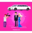 Two rich and beautiful celebrities vector image