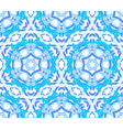 kaleidoscopic bright blue flower ornament vector image