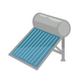 solar battery in shiny metal corpus isolated vector image