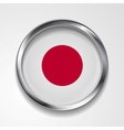 Japanese metal button flag vector image vector image