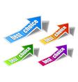 arrow sticker vector image