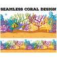 Seamless fish swimming under the ocean vector image