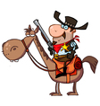 western sheriff on a horse vector image vector image