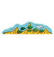 a cartoon desert and mountains landscape vector image
